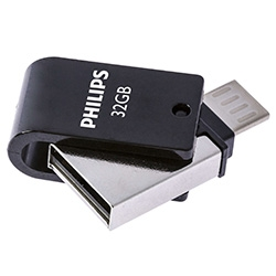 USB 2.0 Flash Drive Philips 2 in 1 / 32 GB