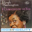 Dinah Washington ‎– I Concentrate On You (LP)