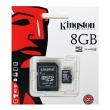 Micro SD HC памет Kingston, 8GB, class 4