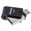 USB 2.0 Flash Drive Philips 2 in 1 / 16 GB